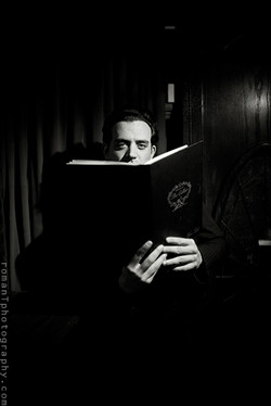 Anthony taking in some light reading