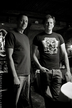 Cory with Ryan Duddley of The Cellar