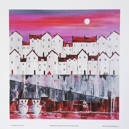 Fine Art Giclee Print 20 x 20cm Red Roofs