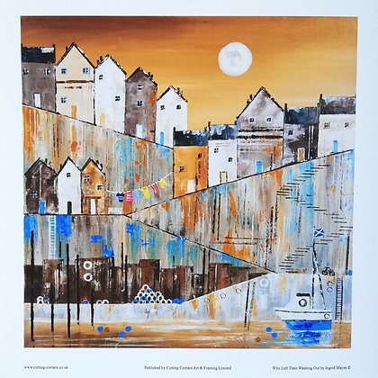 Fine Art Giclee Print 20 x 20cm Who Left Their Washing Out