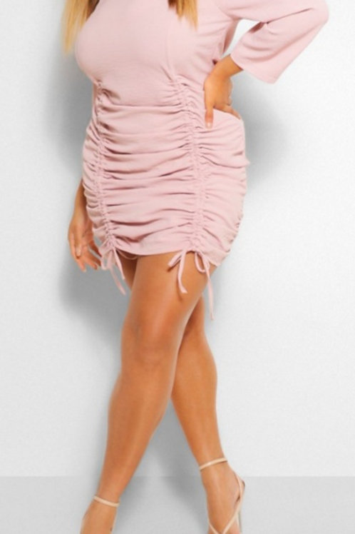 Pink Rouge plus size Dress