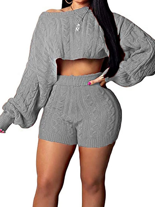 2 Piece short sweater set