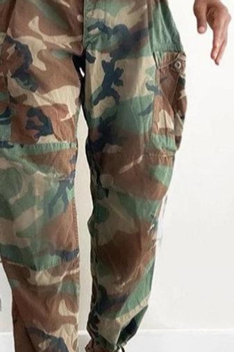 High Waist Camouflage Print Pants