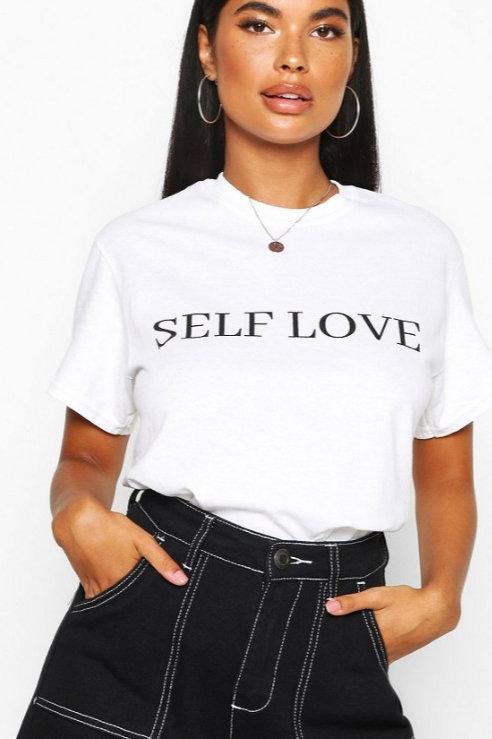 Oversized Self Love T Shirt