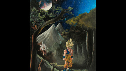 Dragon Ball Z Inspired Commission Painting