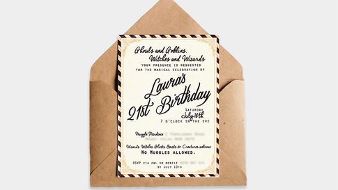 Birthday Invitation Design