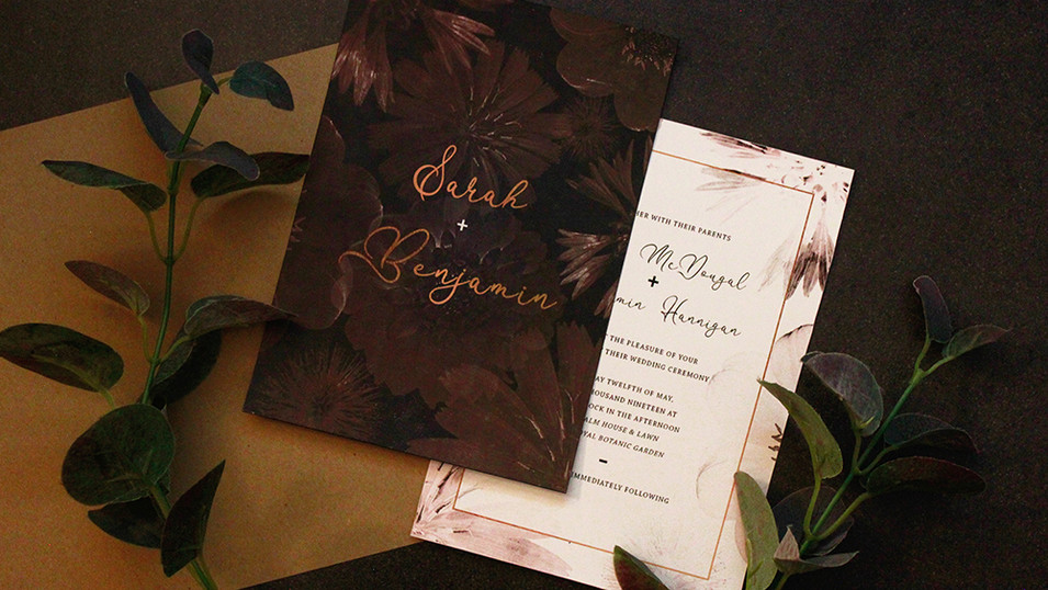 Dark Floral Wedding Package