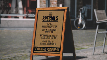 Point Blank Cafe Signage