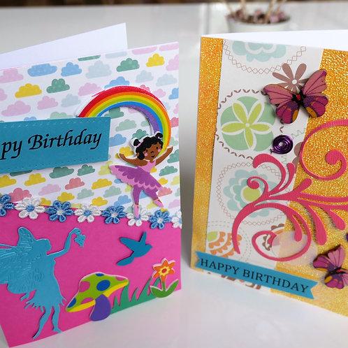 Kids card making kit- Gardens, grubs and fairies
