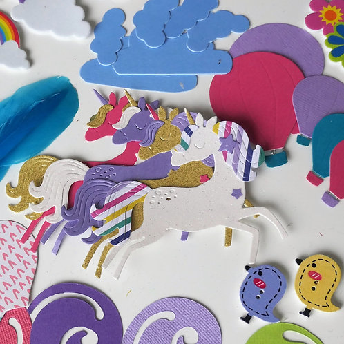 Kids Card Making kit- Mermaids and unicorns