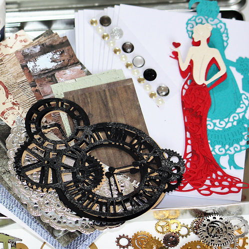 Refill for Vintage Steampunk Handmade Card making kit
