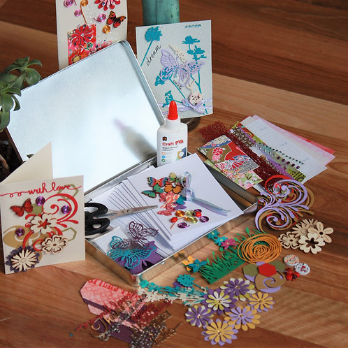 Gorgeous Gardens Handmade Card Making Kit- Makes 8 Cards