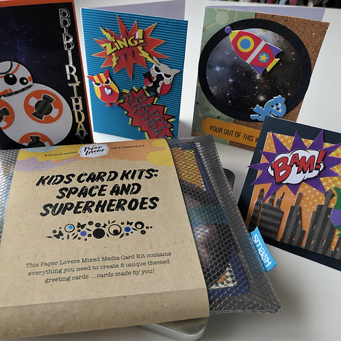 Kids Card making kit- Space and Super heros