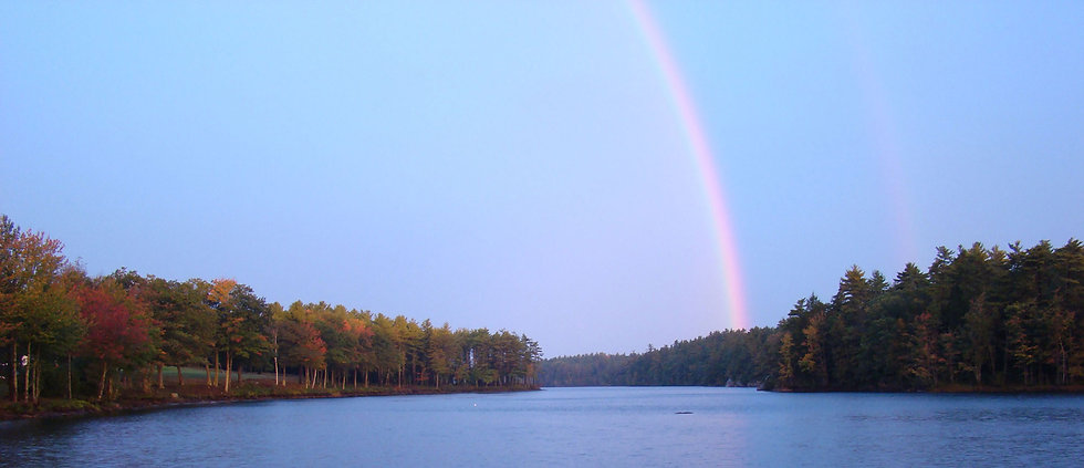 Rainbow over Chases Pond