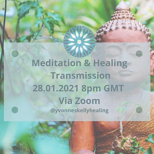 Online Meditation & Healing Transmission 13th January