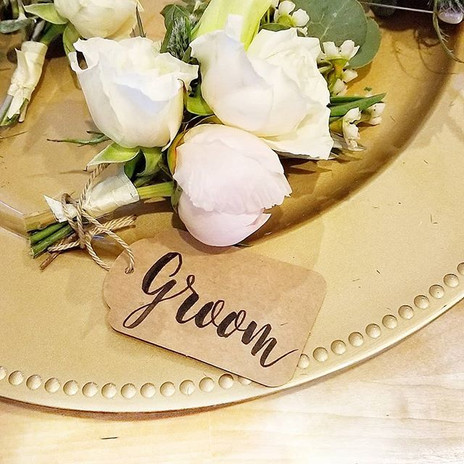 Groom's bout tag ✒💐👍 Although this is