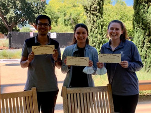 Congrats to Manish, Casandra and Callan for passing PhD qualifying exams with flying colors!