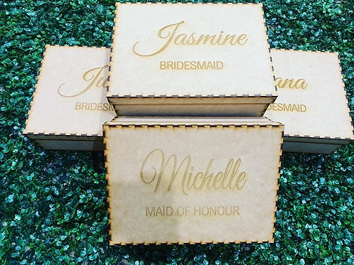 A4 size wooden gift boxes- Empty or packed