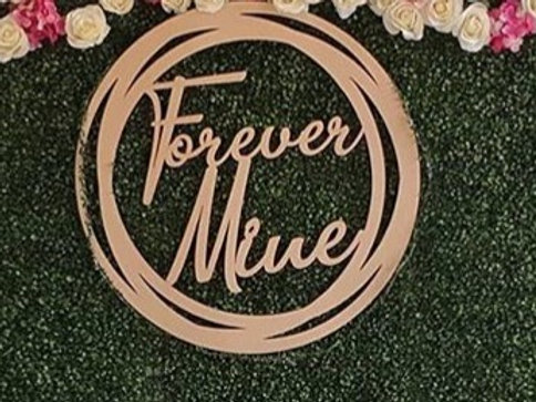 Wooden Hoop Backdrop Sign from $30