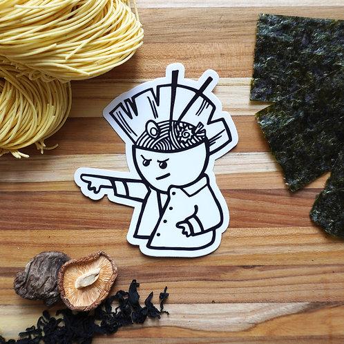 """4"""" Vinyl Punk Noodle Man Sticker"""