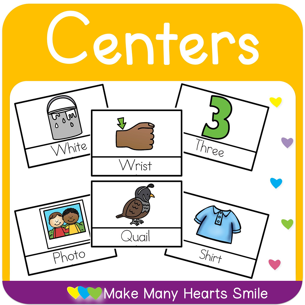digraphs centers and clip cards included in the bundle