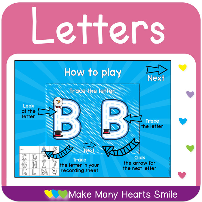 Interactive Letter Tracing Activity