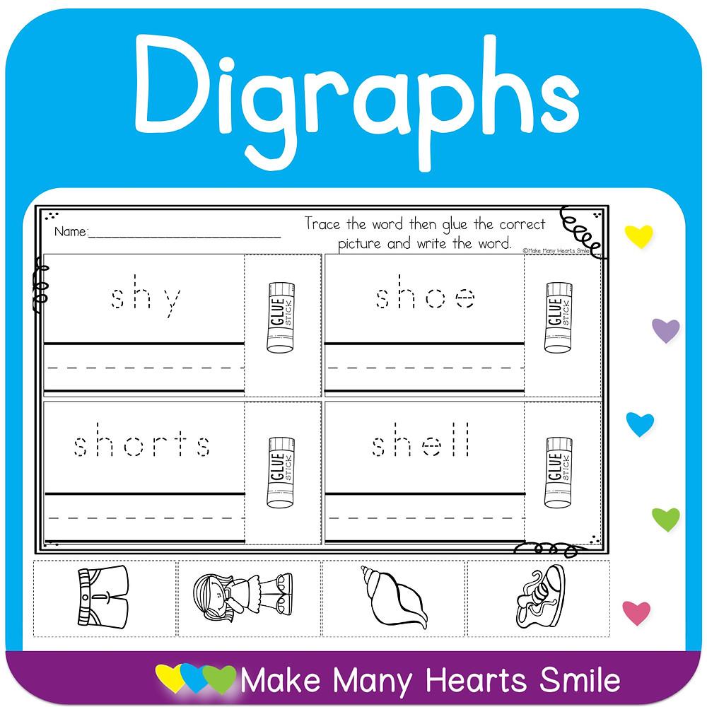 Digraphs Worksheets Bundle