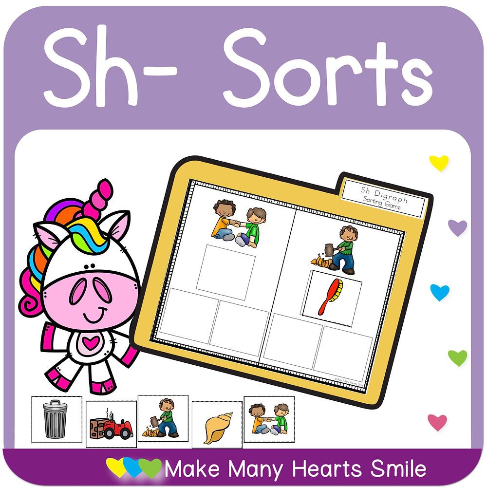 Sh digraphs sorting kit MHS47
