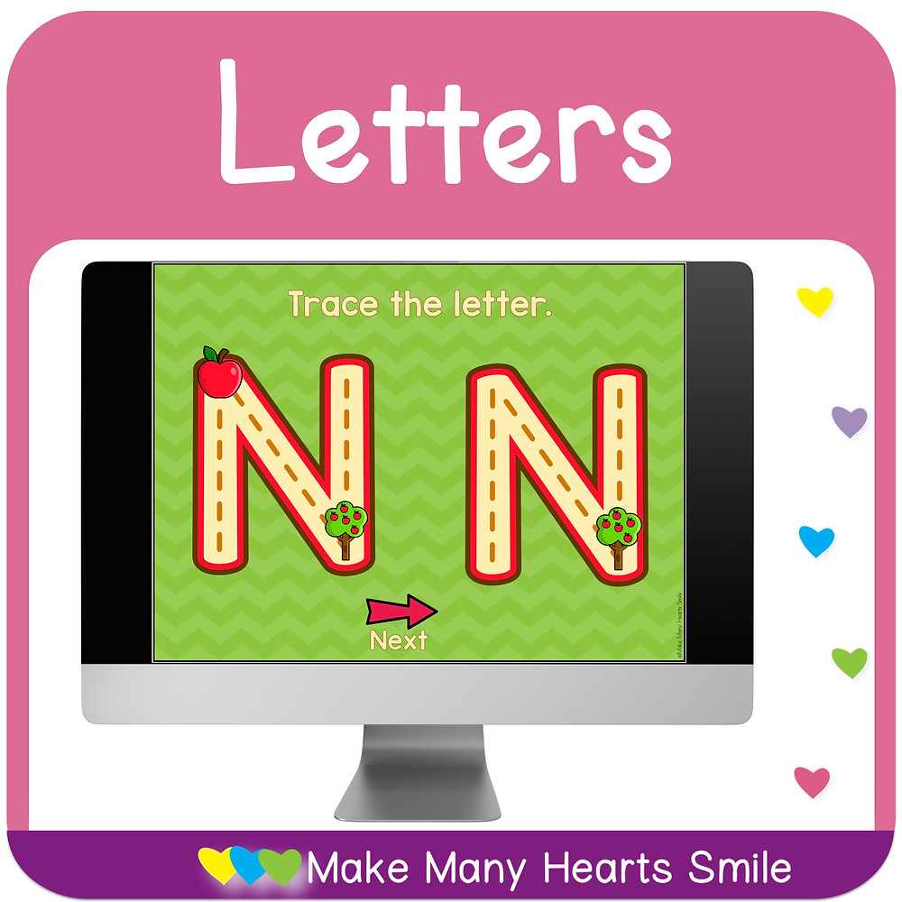 Interactive letter tracing