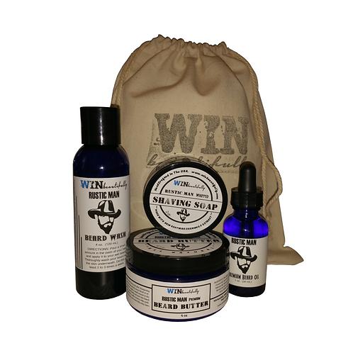 Rustic Man - Premium Beard Kit