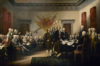 """Trumbull's """"Declaration of Independence"""""""