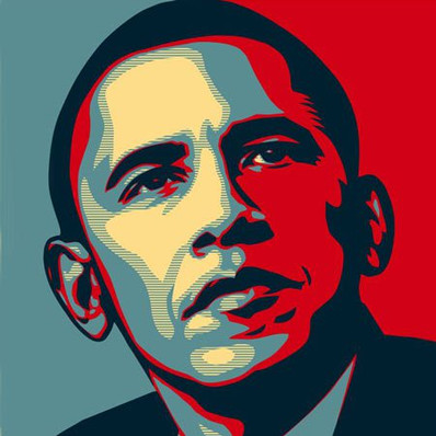 Shepard Fairey's poster of candidate Barack Obama