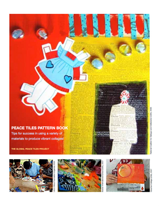 """Peace Tiles Pattern Book, a guide to maximizing the use of an 8"""" x 8"""" surface using paint and collage!"""