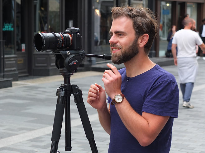 Behind the scenes bts Simon Burbage directing the short film 'When Hot Dog Mt Beefcake'