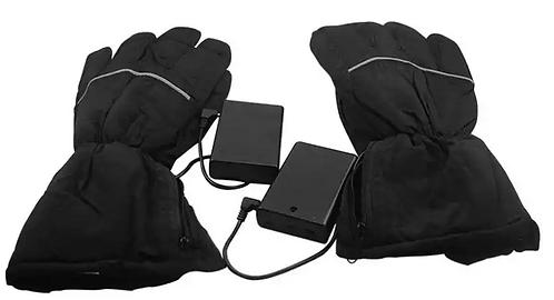 Перчатки с подогревом на батарейках черные