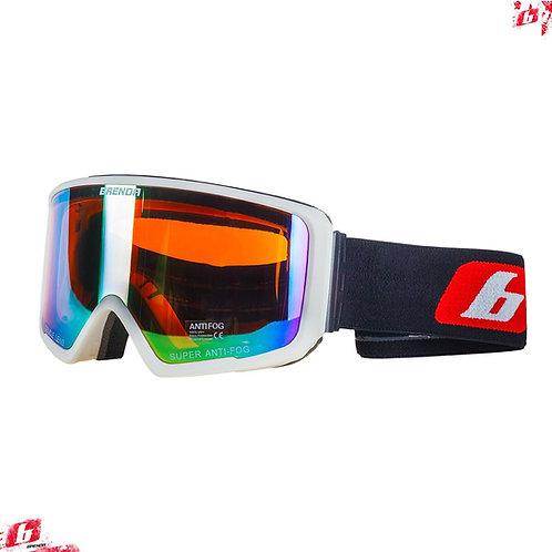 Горнолыжные очки BRENDA SG190 white-gold revo (модель со сменной линзой
