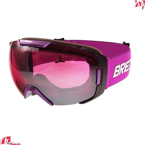 Горнолыжные очки BRENDA FARO shiny purple-pink silver