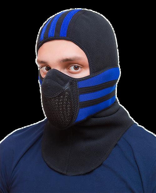 Тепловая маска БАЛАКЛАВА LUXE 3В1 TM.1.4 SPORT-BLUE
