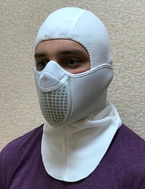 Тепловая маска БАЛАКЛАВА LUXE 3В1 ТМ.1.4 БЕЛАЯ