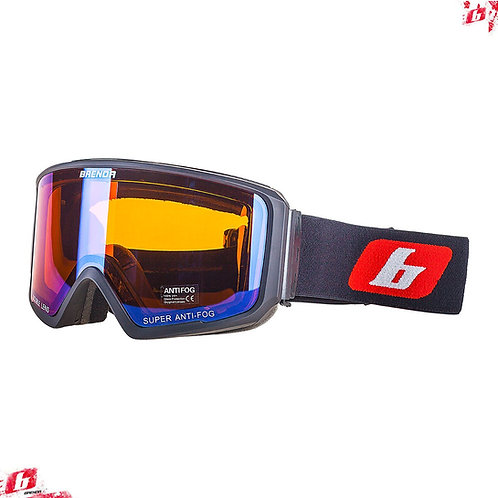 Горнолыжные очки BRENDA SG190 black-blue revo (модель со сменной линзой)