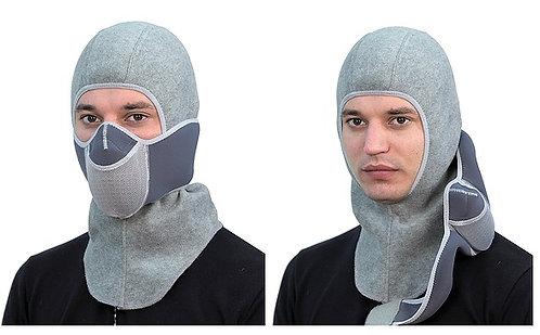 Тепловая маска БАЛАКЛАВА LUXE 3В1 ТМ.1.4 СЕРАЯ