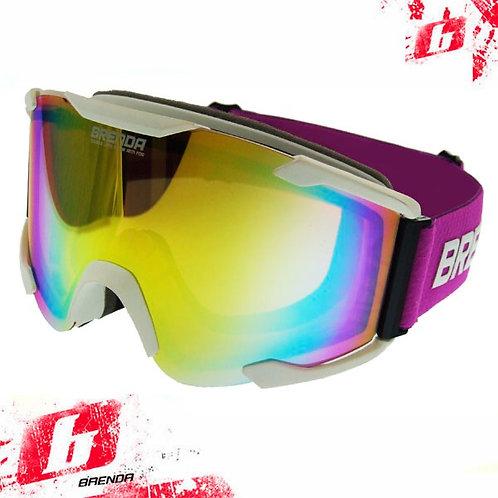 Горнолыжные очки BRENDA ELVAS matt white-revo