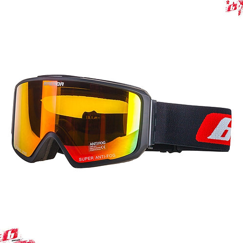 Горнолыжные очки BRENDA SG190 black-red revo (модель со сменной линзой)