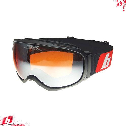 Горнолыжные очки BRENDA HOORN mblack-orange mirror OTG