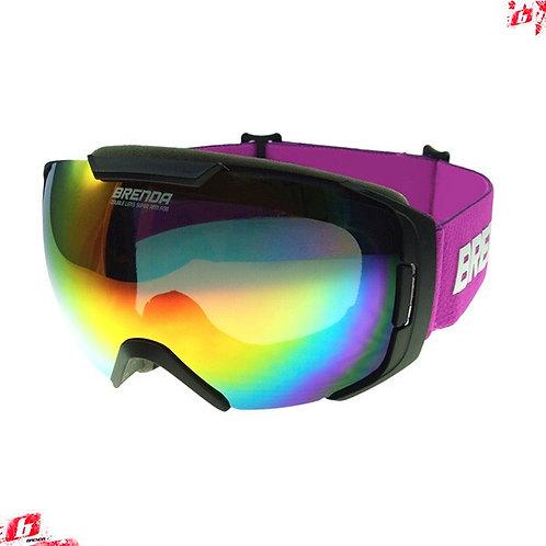 Горнолыжные очки BRENDA FARO mblack-red revo