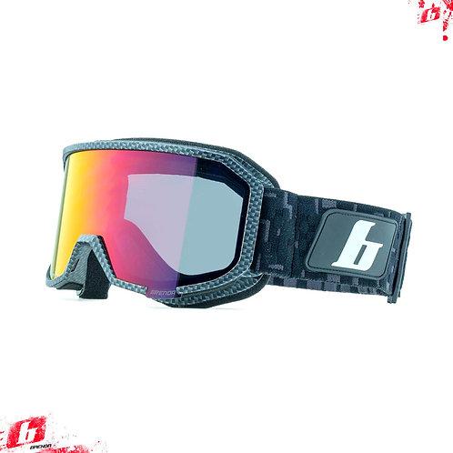 Горнолыжные очки Brenda ASPEN carbon-red revo