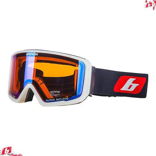 Горнолыжные очки BRENDA SG190 white-blue revo (модель со сменной линзой)