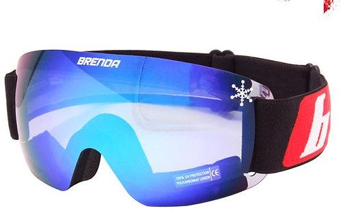 Горнолыжные очки Brenda DIGI Black/Blue Revo
