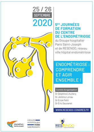 5èmes Journées de Formation du Centre de l'Endométriose, 25/26 sept 2020