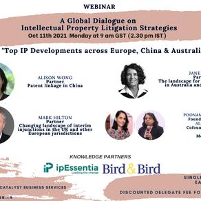 Top IP developments across Europe, China & Australia